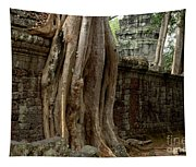 The Wall At Ta Prohm Tapestry