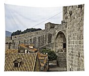 The Wall In Dubrovnik Tapestry