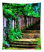 The Wall Of Gravestones Tapestry