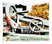 The Wheels Of War Keep On Turning Tapestry