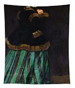 The Woman In The Green Dress Tapestry