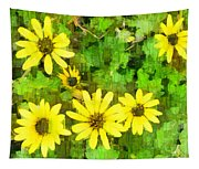 The Yellow Daisies  Tapestry