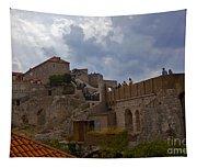 They Walk The Wall In Dubrovnik Tapestry
