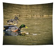 Thin Ice Wet Duck Tapestry