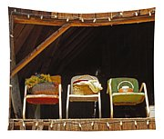 Three Chairs With A View Tapestry