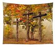 Three Crosses Tapestry