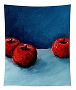 Three Red Apples Tapestry by Michelle Calkins