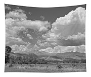 Thunderstorm Clouds Boiling Over The Colorado Rocky Mountains Bw Tapestry