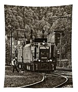 Thurmond Wv Train Sepia Tapestry