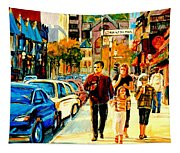 Thursdays Pub On Crescent Street Montreal City Scene Tapestry