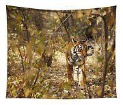 Tiger In The Undergrowth At Ranthambore Tapestry
