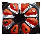Orange And Black Art -time - Sharon Cummings Tapestry