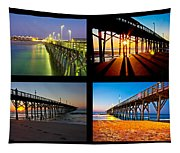 Topsail Piers At Sunrise Tapestry