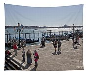 Tourists In Venice Tapestry