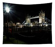 Tower Bridge And Riverside Night View  Tapestry