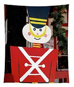Toy Soldier Christmas In Virginia City Tapestry