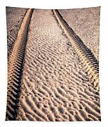Tracks In The Sand Tapestry