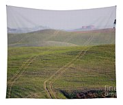 Tracks On The Field Tapestry