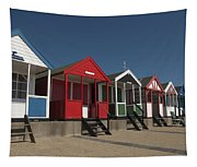 Traditional Beach Huts On The Seafront Tapestry