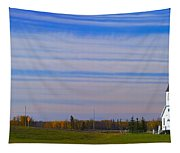 Traditional Prairie Steeple Church In Tapestry