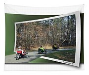 Trail Of Trikes Tapestry