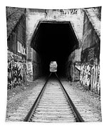Train Tunnel At The Muir Trestle In Martinez California . 7d10235 . Black And White Tapestry