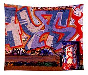 Trash Can Art Tapestry