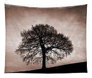 Tree Against A Stormy Sky Tapestry