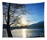 Tree And Lake Tapestry