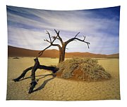 Tree In Desert Tapestry