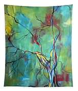 Tree Of Winding Color Tapestry