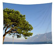 Tree Standing Close To A Lake Tapestry