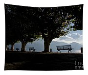 Trees And Benches Tapestry