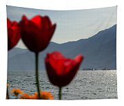 Tulip And Lake Tapestry
