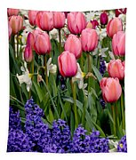 Tulips And Friends Tapestry