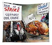 Turkey Strike Tapestry