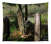 Turkish Cemetery In Rural Mugla Province Tapestry
