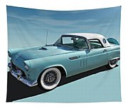 Turquoise T-bird Tapestry
