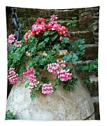 Tuscan Earthenware Pot And Flowers Tapestry