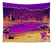 Twilight On La Push Beach Tapestry