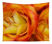 Twin Yellow Roses Tapestry