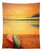 Two Canoes Tapestry