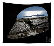 Two Islands On A Lake With A Arch Tapestry