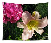 Two Pink Neighbors- Lily And Phlox Tapestry