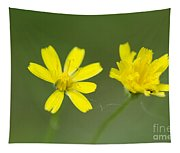 Two Yellow Flowers Tapestry