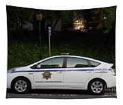 Uc Berkeley Campus Police Car  . 7d10181 Tapestry