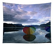 Umbrella Beach Tapestry
