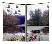Unicorn Lake - Cross Your Eyes And Focus On The Middle Image Tapestry
