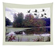 Unicorn Lake - Geese Tapestry