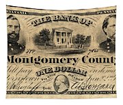 Union Banknote, 1865 Tapestry